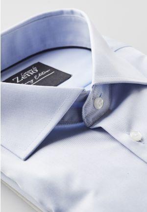 Kadet Light Blue Slim Strykefri Skjorte